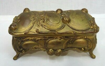 Antique 19th Century Bronze Nouveau Jewelry/Casket Box