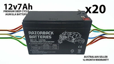 20X Brand New 12v 7ah UPS SLA battery for Communication & Control equipment