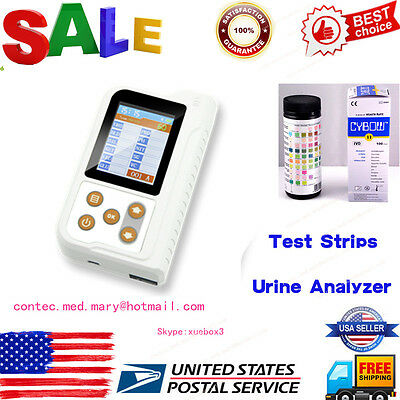 US fedex Urine Analyzer Machine Monitoring with 11parameter test Strip,Bluetooth