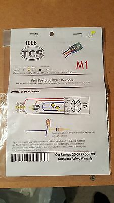 Train Control Systems TCS M1 decoder HO / N scale