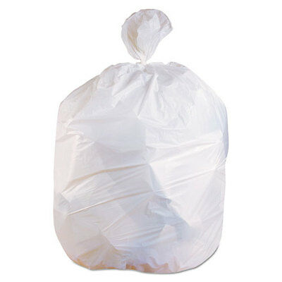 Low-Density Can Liners, 12-16 gal, 13 mic, 24 x 32, White, 500/Carton