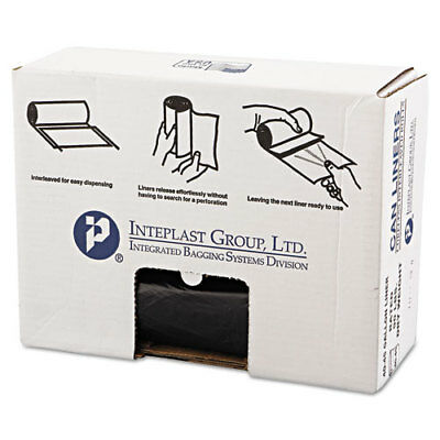 High-Density Can Liner, 40 x 46, 45gal, 19mic, Black, 25/Roll, 6 Rolls/Carton