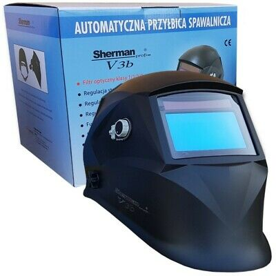 Sherman V3b Auto Darkening Welding Helmet Mask DIN 9-13 Best filter 1/1/1/1