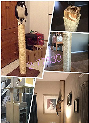 6mm 1/5/10M DIY Pet Cat Toy Scratching Post Natrual Cordage Twisted Sisal Rope