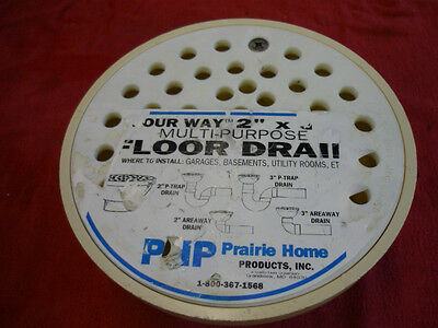 """DRAIN BELL TYPE PVC PHP FLOOR DRAIN  2"""" x 3"""" WITH PVC GRATE - FITS 2"""" & 3"""" PIPES"""