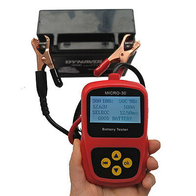 Professional 120cm 12V Digital Motorcycle Battery Tester Tool With LCD Display