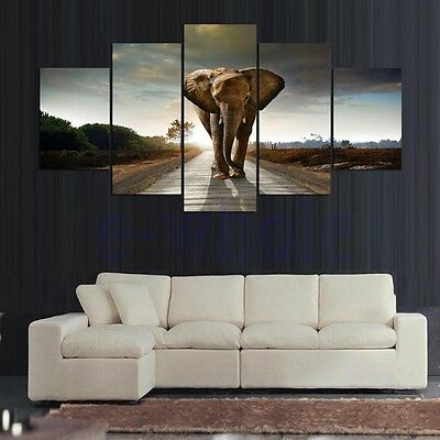 Unframed HD Canvas Print Wall Art Painting Picture Poster Home Decor Elephant DT