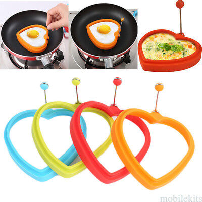 Frying Round Shape Mold Silicone Pancake Fry Egg Ring Kitchen Fry Gadget Tool