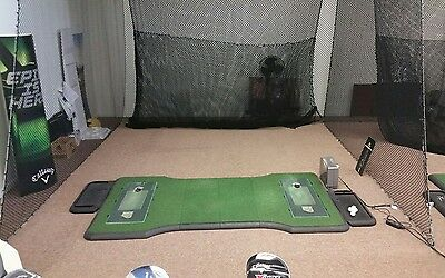 Indoor Driving Range Nets + Mats + Computer + Launch Monitor (Ultimate Mancave!)