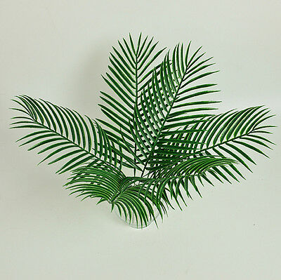 1Pcs Palm Leaves Plastic Silk Fake Plant Artificial Leaf Home Party Decor