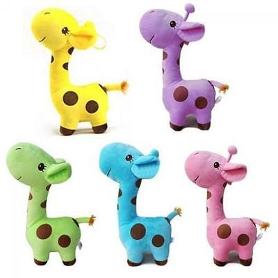 Cute Mini Soft Giraffe Animal Plush Play Decor Toys For Baby Kids Birthday Gifts