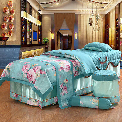 Massage Table Beauty Bed Cover Sheets Set With face hole((Australian Seller)