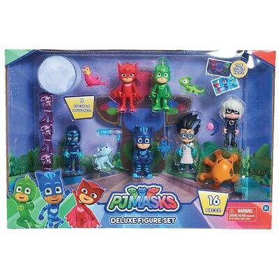 PJ Masks 16 piece Deluxe Figure Set (incl Hero's Villans + Pets)