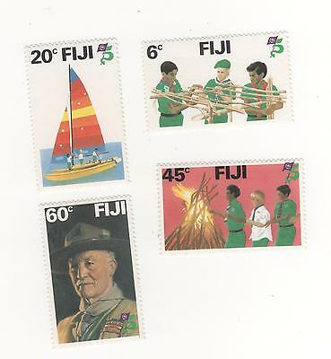 1981 FIJI  75th Anniv of Boy Scout Movement (  Baden - Powell ) SG#628 -631 MUH#