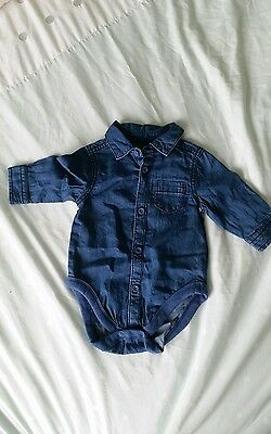 Baby Boys 0-3 Months Mothercare Denim Shirt/vest