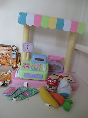 Cushy Cafe Market Set (Cash Register with Scanner and Play Food) - Ages 3+