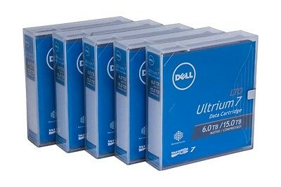 5 x New Dell Ultrium LTO-7 Backup Data Tape Cartridge 6TB/ 15TB LTO7 Tax Invoice