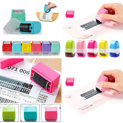 1PC Roller Self Inking Stock Stamp Seal Theft Protection Code Guard ID Security