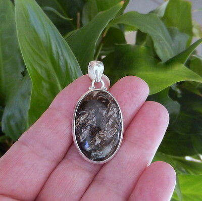 Golden Russian Seraphinite Sterling Silver 925 Pendant 42Mm 7.8G. 22.65Cwt.