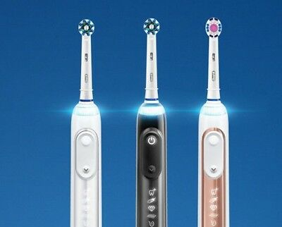 BRAUN ORAL B GENIUS 9000 WHITE Electric Rechargeable Handle + 1 TOOTHBRUSH ONLY