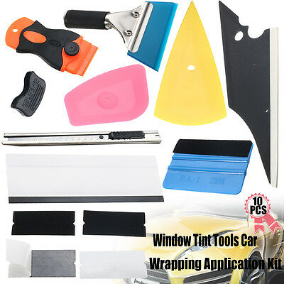 10 In 1 Window Tint Tools Car Wrapping Application Kit Sticker Vinyl Sheet