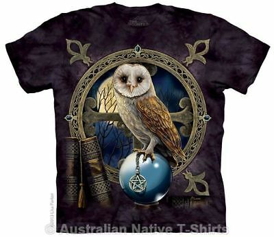 Spell Keeper Owl T-Shirt in Adult Sizes - Animal Fantasy Art by Lisa Parker