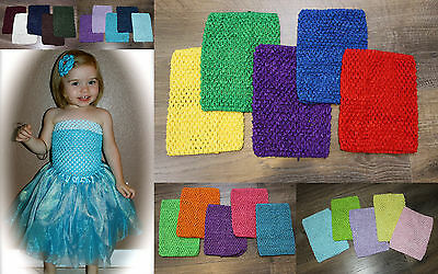 "NEW 8"" LARGE Crochet Tutu TUBE TOP LOT OF 5 Baby GIRL Infant Toddler Photo Prop"
