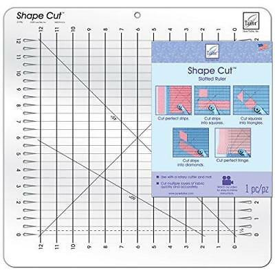 June Tailor slotted Shape Cut Ruler use with rotary cutter for strips fringes  e