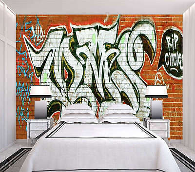 Nice Graffiti Wall 3D Full Wall Mural Photo Wallpaper Printing Home Kids Decor