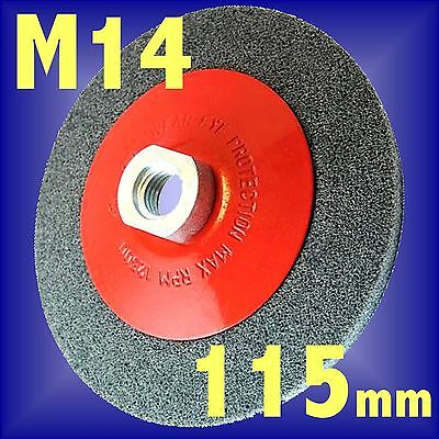 Silverline 115mm Rotary Bevel Abrasive Brush crimp wheel cup wire Angle Grinder