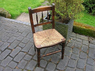 Vintage CHILDS CHAIR with RUSH SEAT