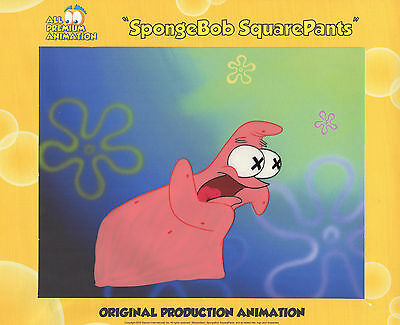 """2017 LISTING ! """"THE VERY BEST""""! Spongebob Production CEL #5696 """"TEXAS"""" FUNNY !"""