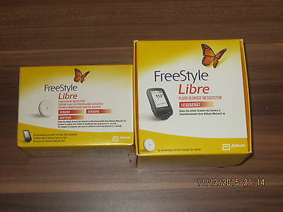 FreeStyle Libre Starter Kit Pack mg/dl NEW Reader+1Sensor WORLDWIDE SHIPPING