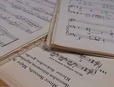 **200g  Vintage Sheet Music Paper, Decoupage, Art Projects, Crafting, Shabbychic
