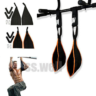 Heavy Duty AB Strap AB-Crunch Sling Weight Liting Hanging Gym Chain Pull up Belt