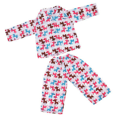 18inch Dolls Pajamas Outfit-Horse Pjs Clothing Set for American Girl Costume
