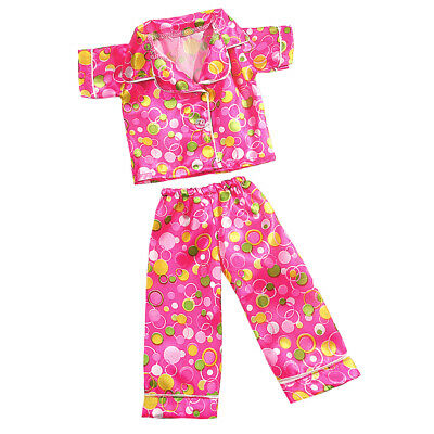 Trendy Colorful Circle Pajamas Nightwear Outfit for 18'' American Girl Dolls