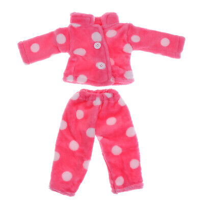 Rose Red Plush Pajamas Clothing Outfit for 18'' American Girl My Life Doll