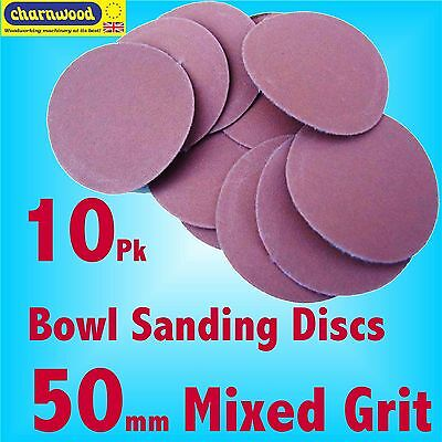 Charnwood SD50MIX 50mm Mixed grit Sanding Discs for BS10 Bowl Sanding Kit 0
