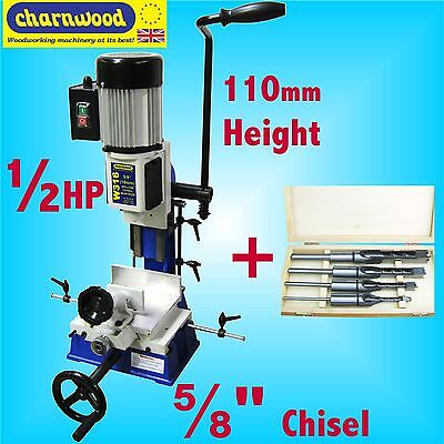 Charnwood W316 16mm 5/8 Bench Top Morticer 1/2HP 145mm height capacity + CHISELS