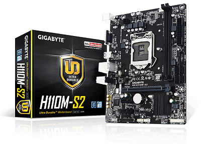 Gigabyte H110M-S2 - mATX Motherboard for Intel Socket 1151 CPUs