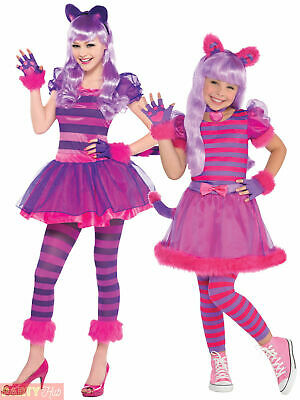 Girls Cheshire Cat Costume Childs Alice Wonderland Fancy Dress Book Week Outfit  sc 1 st  PicClick UK & GIRLS CHESHIRE CAT Costume Childs Alice Wonderland Fancy Dress Book ...
