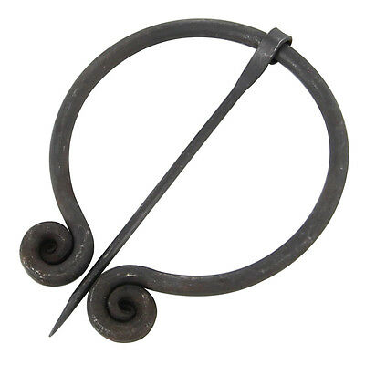 Medieval Viking Wrap Cloak Pin Penannular Spiral Everyday Brooch Jewelry