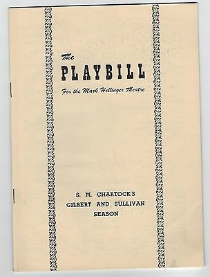 "1949 ""The Pirates of Penzance"" Gilbert & Sullivan The Mark Hellinger Theatre"