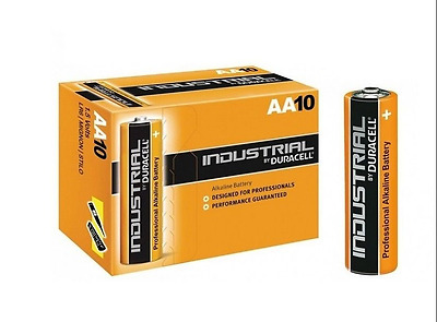 10 x AA Duracell Industrial Batteries Alkaline MN1500 LR6 AA Battery