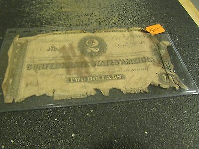 1862     Two Dollar   Confederate States Of America   Note