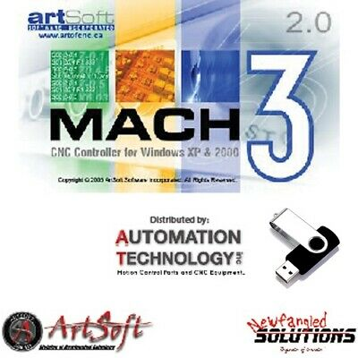 Fully Licensed Mach3 CNC Software , Free CD With manuel, License file