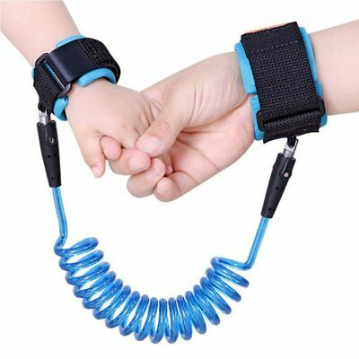BLUE Safety Child Anti Lost Wrist Link Harness Strap ~Leash for Babies~SHIP FAST