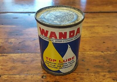 Vintage Wanda Top Lube 4 Oz Can Cato Oil Co Advertising