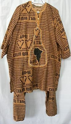 Embroidered Pant Set: Celui qui t'aime African male cloth